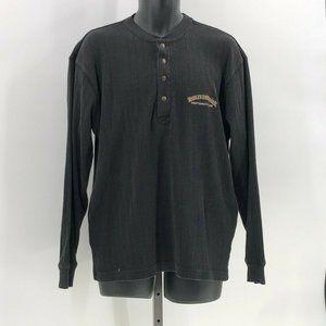 Harley Davidson thermal henley sweater M